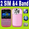 Dual SIM Dual Standby 2 camera TV QWERTY Unlocked mobilephone