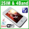 Dual SIM Dual Standby 2 camera phone MP3/4 FM Java Cell phone