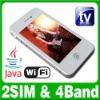 Dual SIM Dual Standby 2 camera phone MP3/4 FM Java Mobile phone