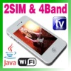 Dual SIM Dual Standby 2 camera phone MP3/4 FM Java Mobile phone