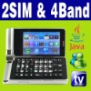 Dual SIM Dual Standby Java TV Flip mobile phone Unlock