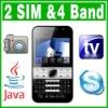 Dual SIM Dual Standby Java TV QWERTY Unlock cell phone
