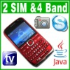 Dual SIM Dual Standby Java TV QWERTY Unlock cell phone