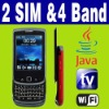 Dual SIM Dual Standby Java TV WIFI QWERTY slide cellphone