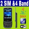 Dual SIM Dual Standby Java TV WIFI QWERTY slide phone