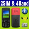 Dual SIM Dual standby MP3 MP4 Mobile phone Unlocked FM