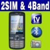 Dual SIM Dual standby MP3 MP4 TV Mobile phone Unlocked