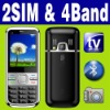 Dual SIM Dual standby MP3 MP4 TV Mobile phone Unlocked