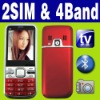 Dual SIM Dual standby MP3 MP4 TV unlocked cellphone