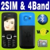 Dual SIM Dual standby MP3 MP4  Unlocked cell phone FM