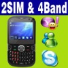 Dual SIM Dual standby MP4 TV MSN Mobile smart phone Unlocked