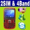 Dual SIM Dual standby MP4 TV MSN Unlocked phone