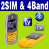 Dual SIM Dual standby MP4 TV racing car smart mobile phone Unlocked