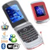 Dual Screen Unlocked Flip three SIM Mobile Phone WiFi TV Java W970 red