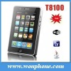 Dual Sim WIFI TV Skype Mobile Phone T8100 with Touch Screen