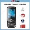 EK-98 mini Slide three sim TV mobile Phone