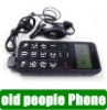 Elder FM Cell Phone Mobile  flashlight SOS button 3Hours calling time