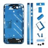 Electroplating Metal Middle Plate + Buttons + Sim Card Tray for iPhone 4S - Blue
