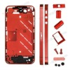 Electroplating Metal Middle Plate + Buttons + Sim Card Tray for iPhone 4S - Red