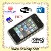 F075 GPS wifi phone with TV