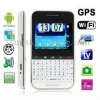 F605 White, GPS + Android 2.2 Version, QWERTY Keyboard, Analog TV (SECAM/PAL/NTSC), Wifi Bluetooth FM function Touch Screen Mobi