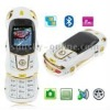 FF White, Sports Car Style, Bluetooth FM function Slide Design Mobile Phone, Dual sim card Dual standby, Dual band, Network: GSM