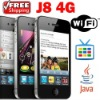 FREE Shipping J8 4G WiFi TV Java CECT cell phone 2GB Black & 4 Gifts ($70 Value) 1 Year Warranty