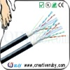 FTP CAT6 Lan cable HDPE Insulated CCA (4pair/0.575mm)