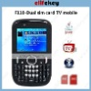 Flying F110 Quad Band Dual Cards Analog TV Java QWERTY Keyboard Cell Phone