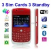 Flying F158 3 SIM Cards GSM Quab Band TV Wifi GPS Cell Phone