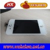 For iPhone 4 Digitizer Touch Panel Screen with LCD Display Screen + Flex Cable + White Supporting Frame - White (OEM)