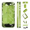 For iPhone 4S Metal Middle Plate + Buttons + Sim Card Tray Electroplating - Green