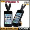 For iphone4 case rabbit silicone cover