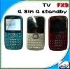 Four SIM TV Mobile Phone FX9