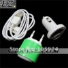 Free HKPOST Mini 3 in 1 EU Home Charger with Sync Cable For iPhone 4G/3GS/iPad IP-595