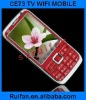 Free shipping Black CE73 Quad Band WIFI TV Java Cell phone