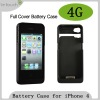 Full cover Battery pack for iPhone 4 Capacity:1700mAh