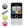 G`FIVE I818 super slim TV mobile QWERTY mobile phone