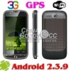 G2000 3G android phone WIFI GPS GSM dual SIM smart phone android 2.3 mobile phone