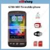 G700 3.2 inch WIFI Dual sim cards TV phone JAVA 2.0 Flip mute Acceleration sensor mobile phone