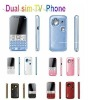 GSM+GSM  TV Phone( 2sim cards or  3sim cards) moible phone