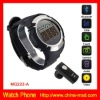 GSM quad band watch mobile phone with 4G memory card