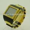 Gold-plated Quad-band 1.3MP watch phone W600 with Pure 24K gold and good hand touching