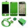 Green Screen+Housing+Chassis+Charger+Cable for Iphone 4G