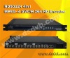 H.264AVC/MPEG4 SD encoder (4 in 1 CVBS in, IP out )