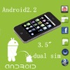 "H2000 android phone 3.5"" capacitive touch screen"