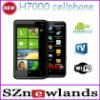 H7000 Google Android 2.2 Smart Cellphone Unlocked Dual Sim TV Celulares with 4.3 inch Capacitive Touch Screen WIFI TV GPS