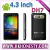 HD7 4.3 inch 3G mobile phone WCDMA + GSM android 2.3 OS