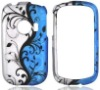 Hard Snap on Case For Huawei M835 Black Vine on Silver and Blue