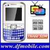 Hot GSM 3 SIM Cell Phone Mobile Q9